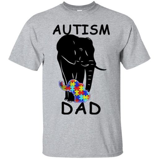Autism T-Shirt Autism Elephant Tee shirt-Autism Dad Shirts CustomCat