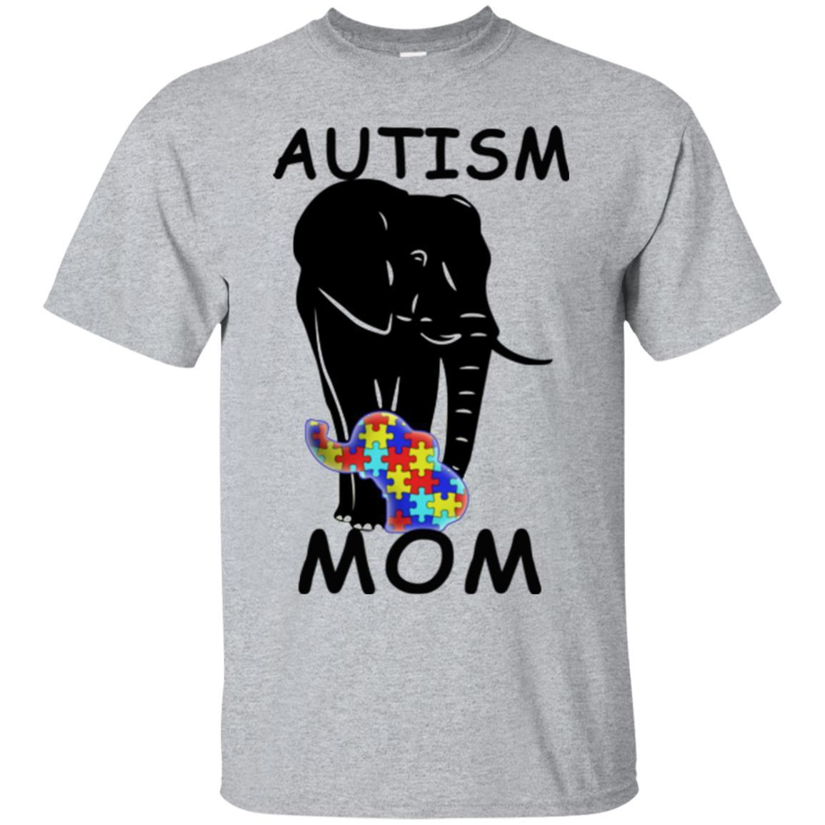 Mothers Day T Shirt Autism Elephant Tee Shirt Mom Shirts A Great