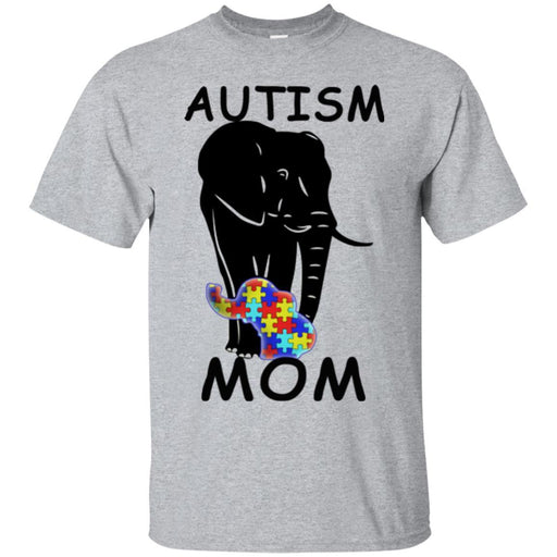 Autism T-Shirt Autism Elephant Tee Shirt Autism Mom Shirts CustomCat