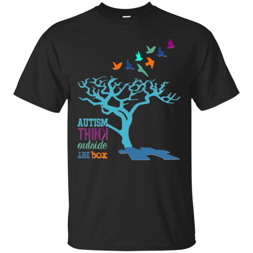 Autism Think Outside The Box T Shirt Autism Awareness Ribbon Funny Tees Autism Day Shirts CustomCat