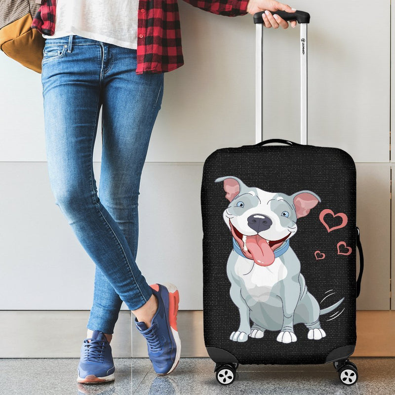 Awesome Pitbull Luggage Cover interestprint