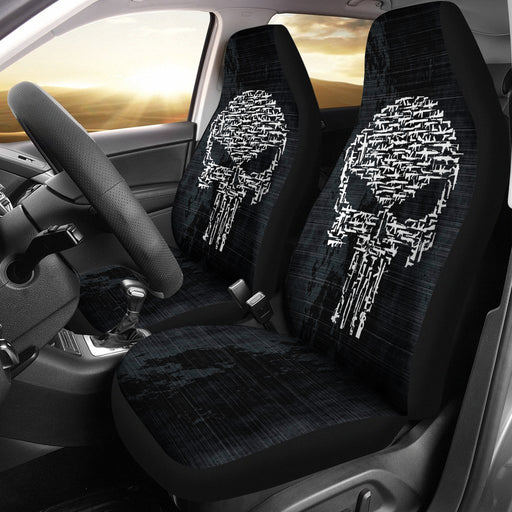 Awesome Skull Gun Car Seat Cover (Set Of 2) My Soul & Spirit