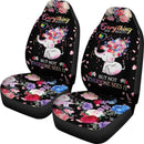 Beautiful Autism Baby Elephant With Flower Car Seat Covers (Set Of 2) interestprint