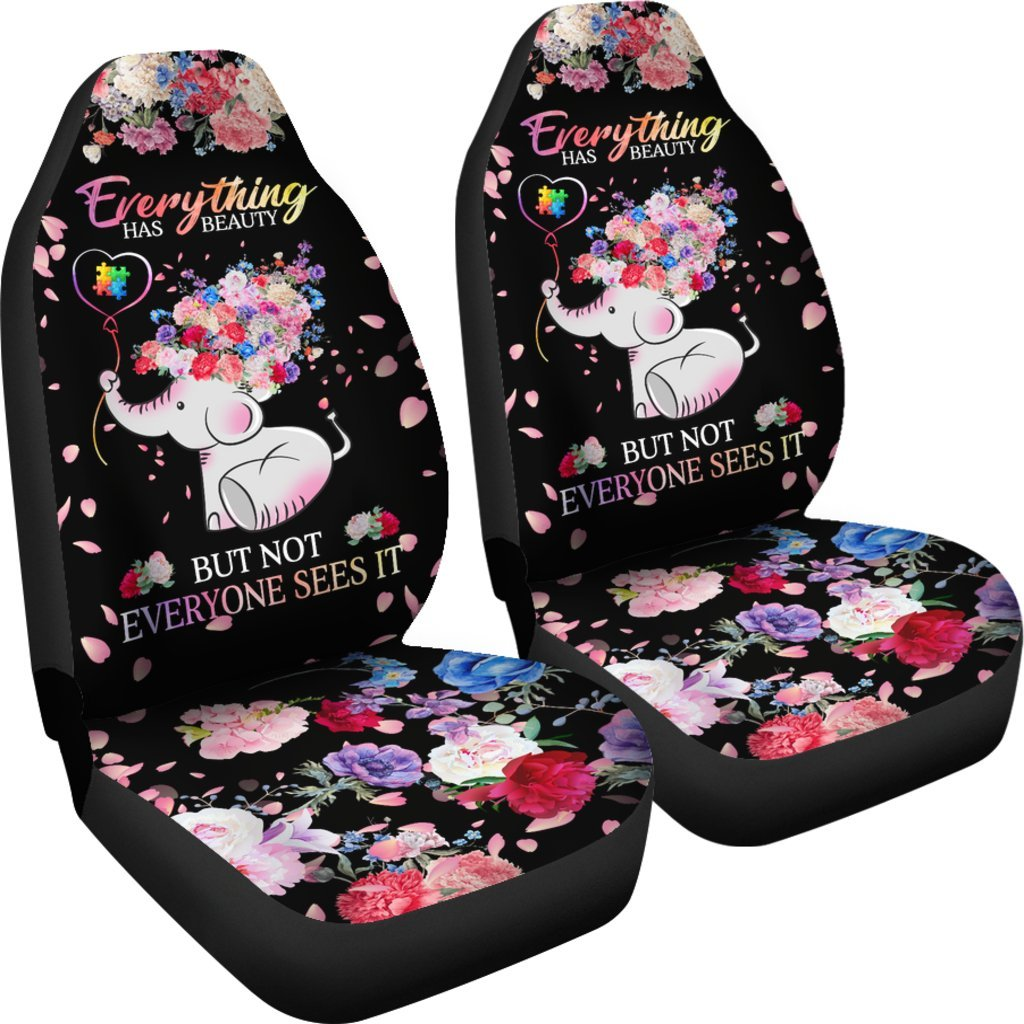 Beautiful autism baby elephant with flower car seat covers set of 2 beautiful autism baby elephant with flower car seat covers set of 2 my soul mightylinksfo