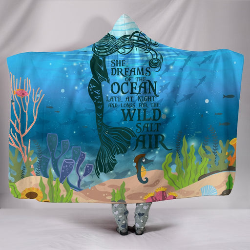 Beautiful Mermaid Dreams Hooded Blanket My Soul & Spirit