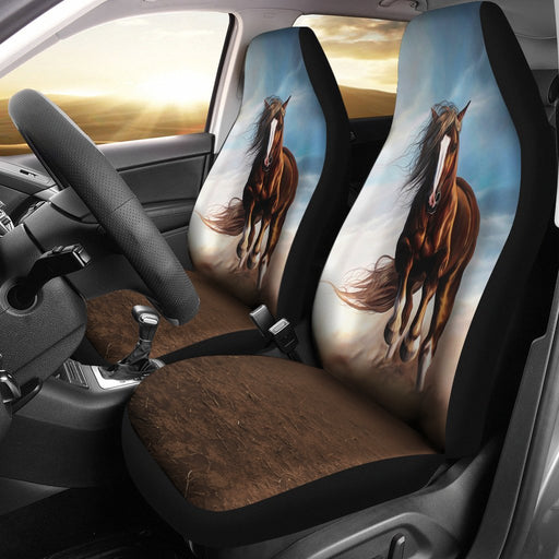Beautiful Painting Of Horse Riding Car Seat Covers (Set Of 2) My Soul & Spirit