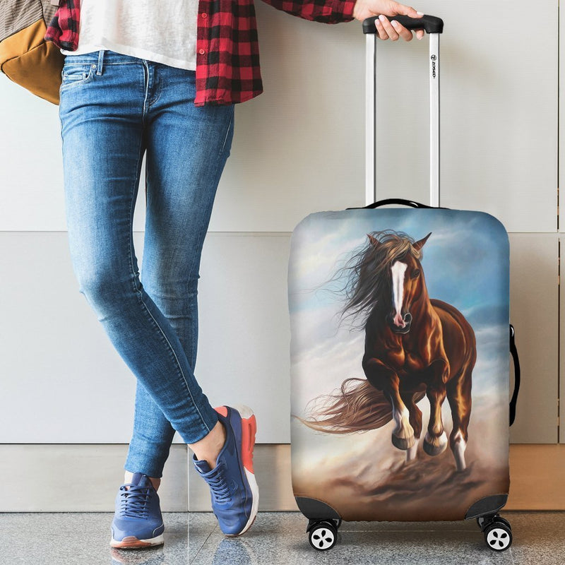 Beautiful Painting Of Horse Riding Luggage Cover interestprint