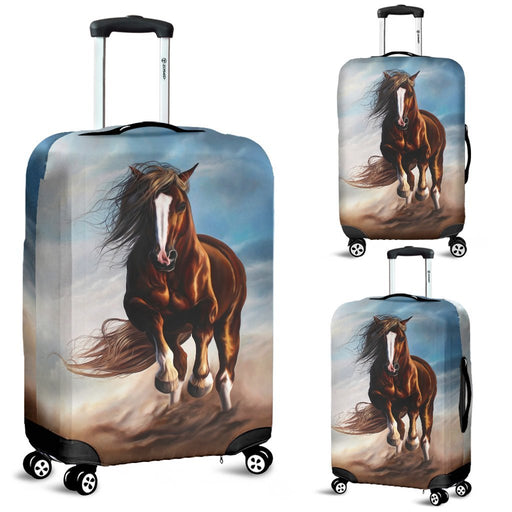 Beautiful Painting Of Horse Riding Luggage Covers My Soul & Spirit