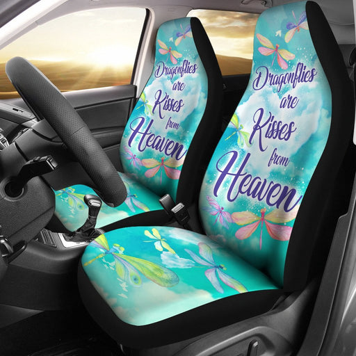Beautiful Watercolor Dragonfly Kisses Car Seat Covers (Set Of 2) My Soul & Spirit