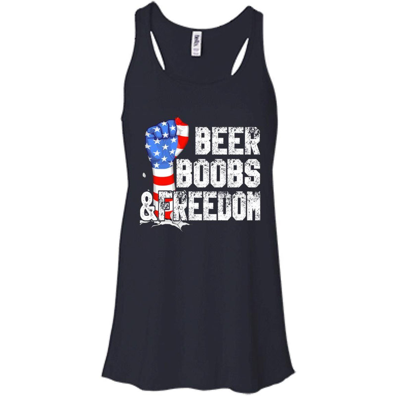BEER BOOBS and FREEDOM Funny T-shirts CustomCat