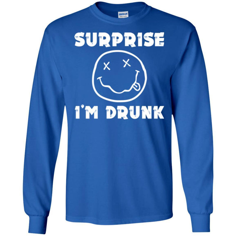 Beer T-Shirt Supprise I'm Drunk Funny Drinking Lovers Interesting Gift Tee Shirt CustomCat