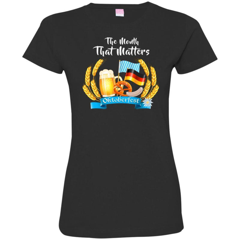 Beer T-Shirt The Month That Matters Oktoberfest Funny Drinking Lovers Shirts CustomCat