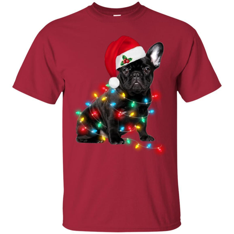 Black French Bulldog Light Around Body Funny Gift Lover Dog Tee Shirt CustomCat