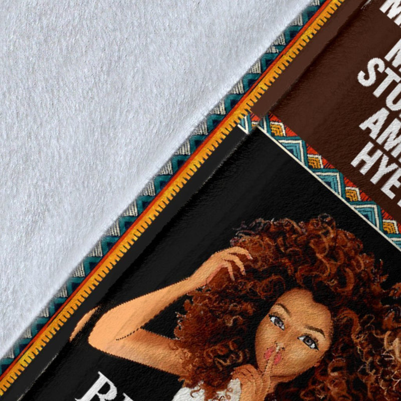 Black Girl My Roots Fleece Blanket interestprint