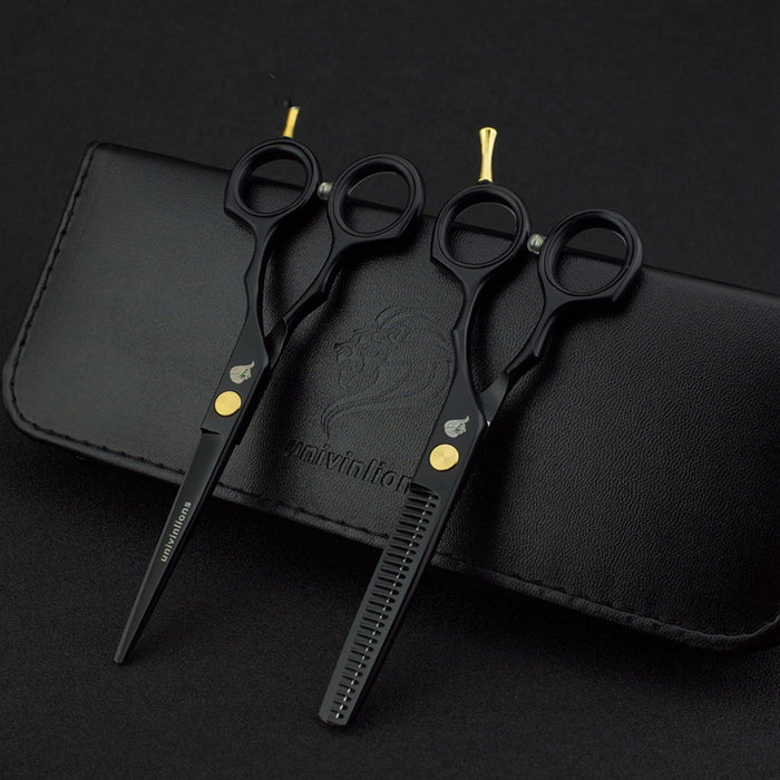 BLACK JAPAN PROFESSIONAL HAIRDRESSING BARBER CUTTING THINNING SCISSORS My Soul & Spirit