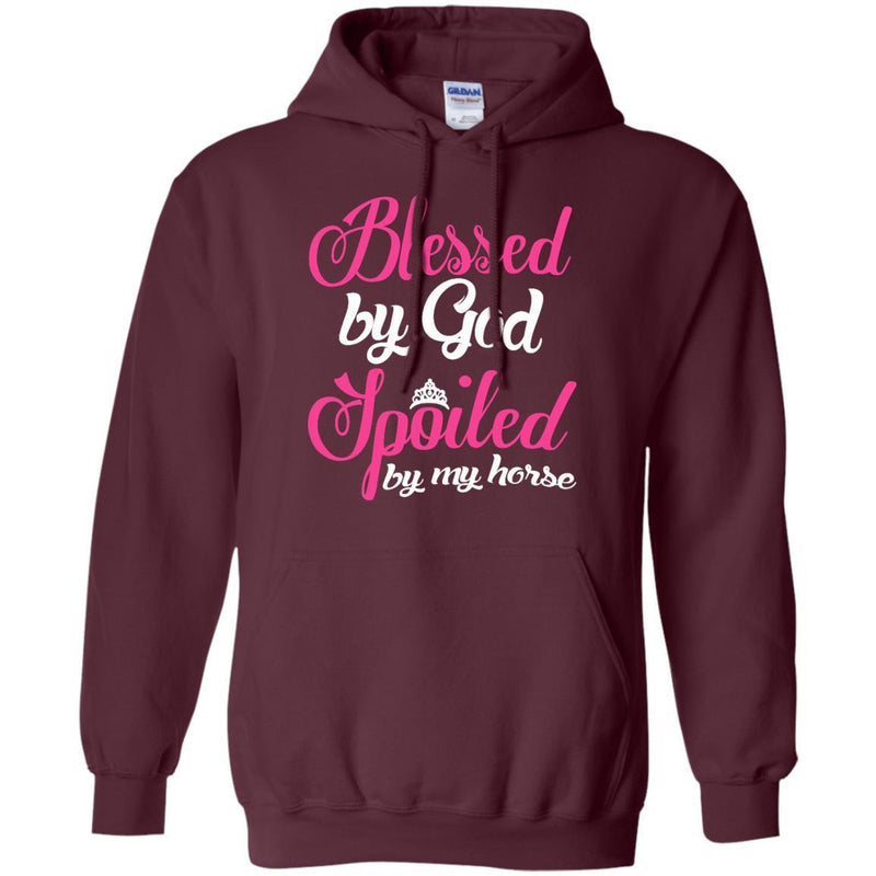 Blessed By God Spoiled by My Horse T-shirt CustomCat