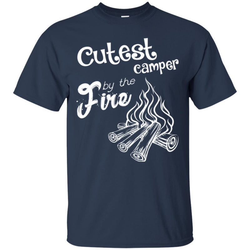 Camping T-Shirt Cutest Camper by The Fire Funny Gift For Camper Tee Shirt CustomCat