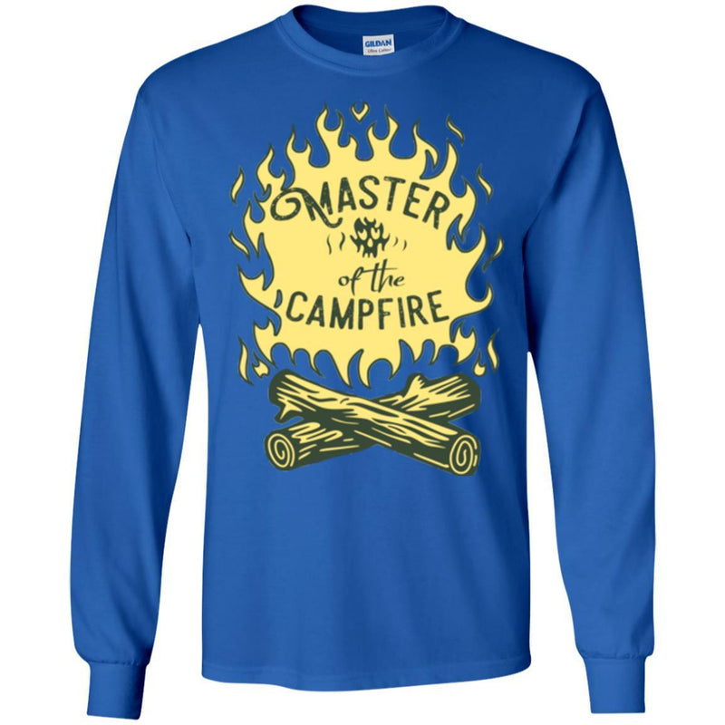 Camping T-Shirt Master Of The Campfire Funny Gift For Camper Tee Shirt CustomCat