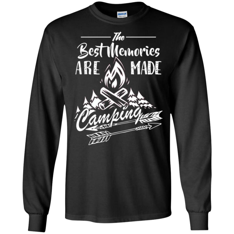 Camping T-Shirt The Best Memories Are Made Camping Funny Gift For Camper Tee Shirt CustomCat