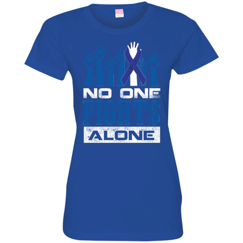 Cancer Awareness T Shirt No One Fights Alone Shirts CustomCat