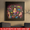 African American Canvas - Prints Abstract Afro Girl Canvas Painting African American Women Picture For Living Room Home Decor
