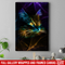 Cat Canvas - Amazing Neon Light Cat Canvas Art Wall Decor Cat- CANPO75 - CustomCat