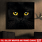 Cat Canvas - Inspirational Black Cat Canvas Art Wall Decor Cat - CANSQ75 - CustomCat
