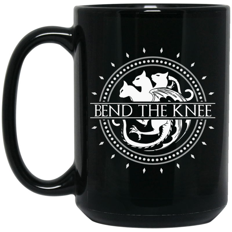 Cat Coffee Mug Bend The Knee Cat Lovers 11oz - 15oz Black Mug CustomCat