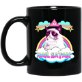 Cat Coffee Mug Cat Kitten Face Hail Satan For Cat Lovers 11oz - 15oz Black Mug CustomCat