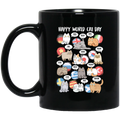 Cat Coffee Mug Happy World Cat Day Kitten Activity For Cat Lovers 11oz - 15oz Black Mug CustomCat