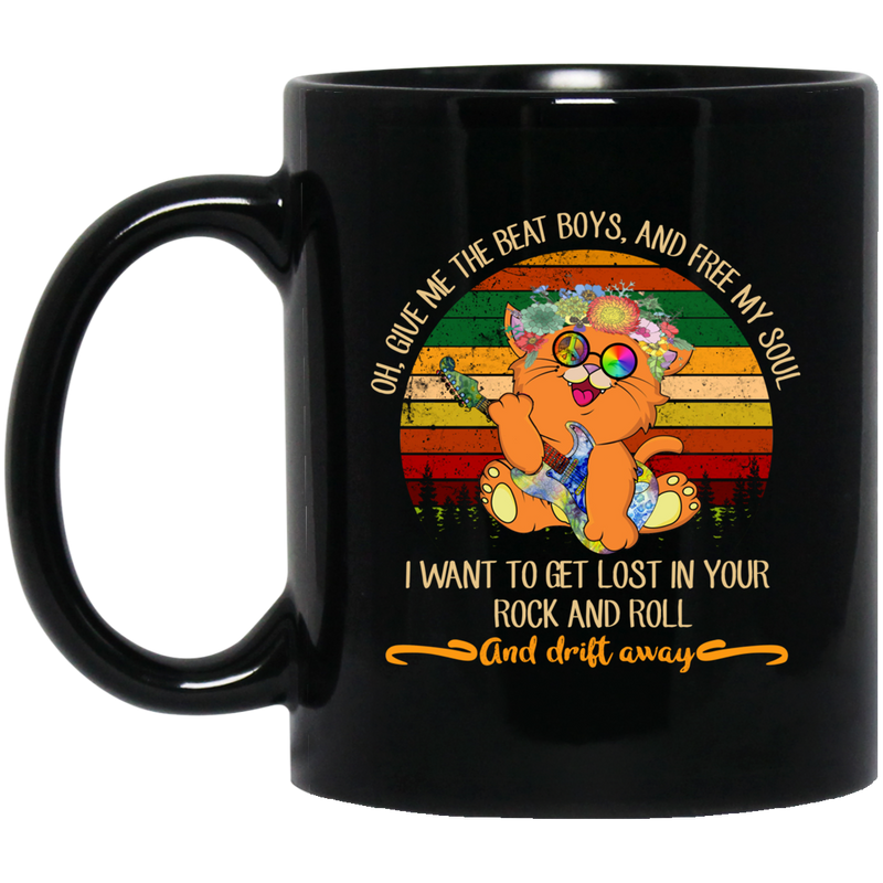 Cat Coffee Mug Once Upon A Time There Was A Girl Who Really Loved Cats I Was Me 11oz - 15oz Black Mug CustomCat