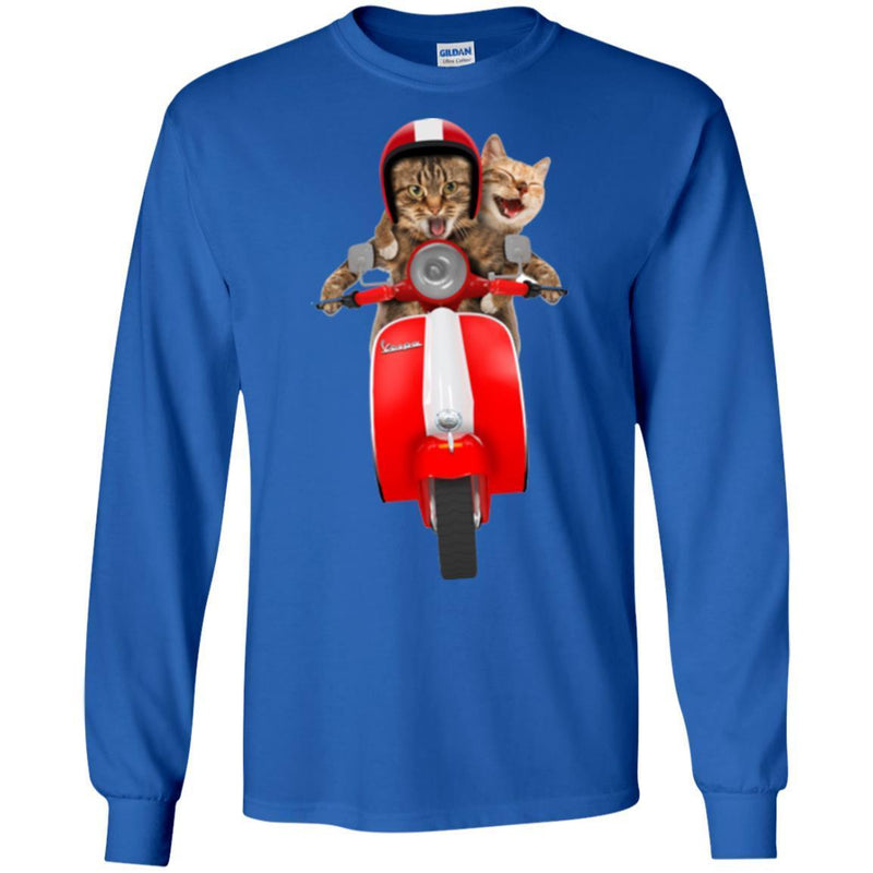 Cat T Shirt Cat Riding Moto Funny Cat Lovers Shirts CustomCat