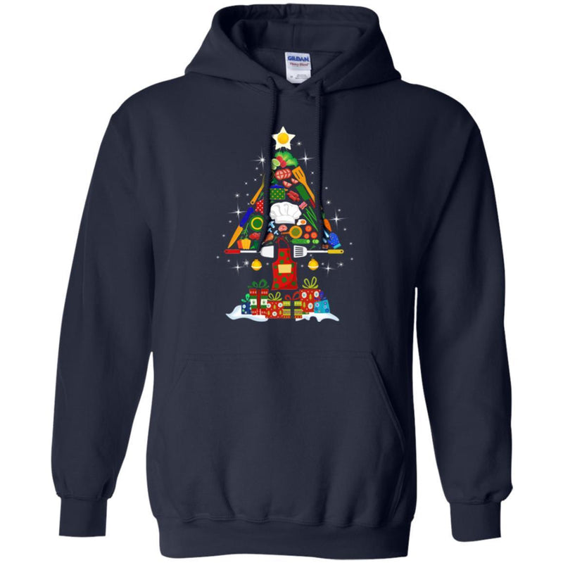 Chef T Shirt Chef Tools Christmas Tree Shirts CustomCat