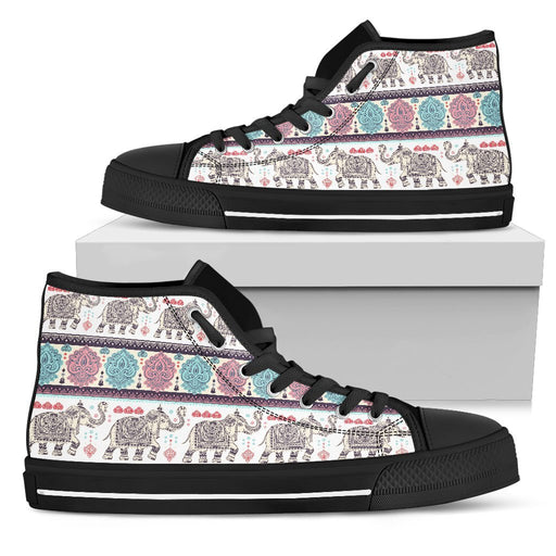 Classic Elephant Design For High Top Shoes My Soul & Spirit