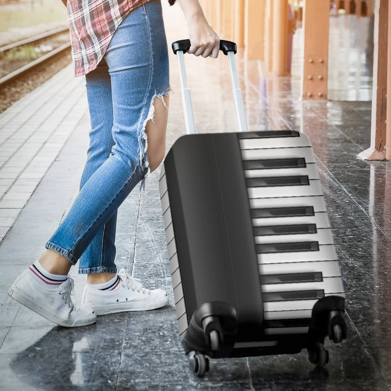 Classic Piano Keyboard Luggage Cover interestprint