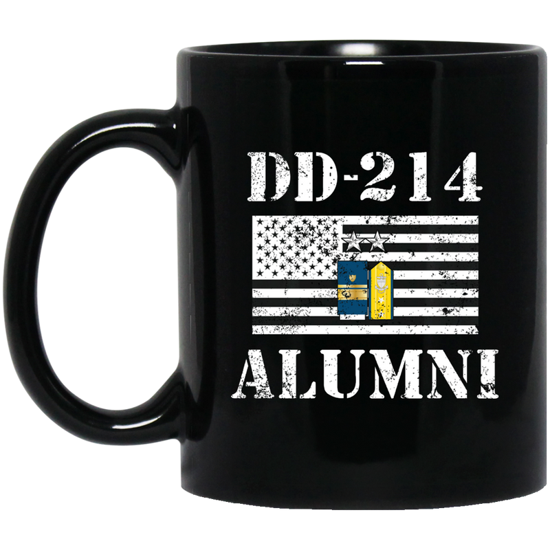 Coast Guard Coffee Mug DD 214 Alumni - Coast Guard Rear Admiral 11oz - 15oz Black Mug CustomCat