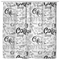 Coffee Shower Curtains Seamless Doodle Coffee Pattern On White For Bathroom Decor