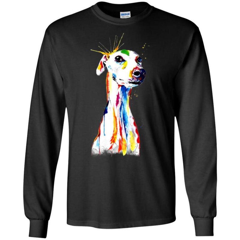 Colorful Greyhound Watercolor Print Art Funny Gift Lover Dog Tee Shirt CustomCat
