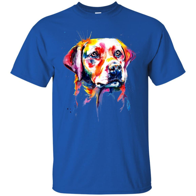 Colorful Labrador Watercolor Print Art Funny Gift Lover Dog Tee Shirt CustomCat