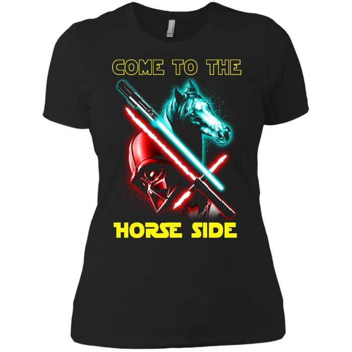Come To The Horse Side T-shirt & Hoodie CustomCat