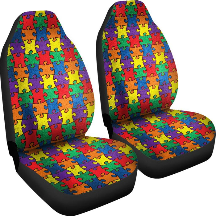 Creative Autism Awareness Car Seat Covers (Set Of 2) My Soul & Spirit
