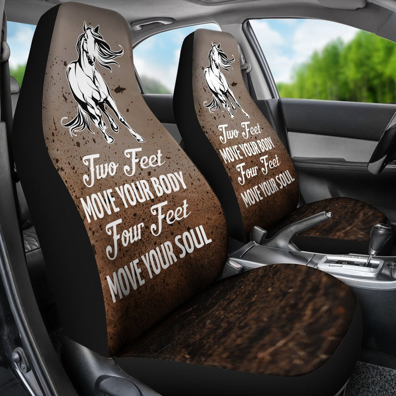 Creative Design Of Horse Saying Car Seat Covers (Set Of 2) interestprint