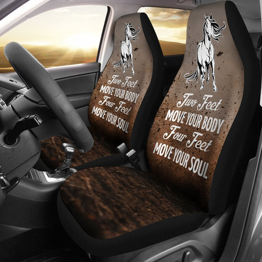 Creative Design Of Horse Saying Car Seat Covers (Set Of 2) My Soul & Spirit
