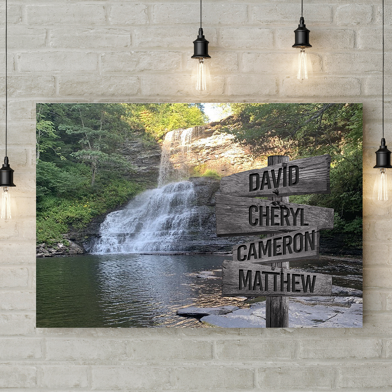 Custom Commissioned Multi-Names Premium Canvas Family - CANLA75 - CustomCat