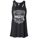 CustomCat Bella+Canvas Juniors Flowy Racerback Tank / Black / X-Small Pisces Tshirt & Hoodie