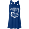 CustomCat Bella+Canvas Juniors Flowy Racerback Tank / True Royal / X-Small Pisces Tshirt & Hoodie