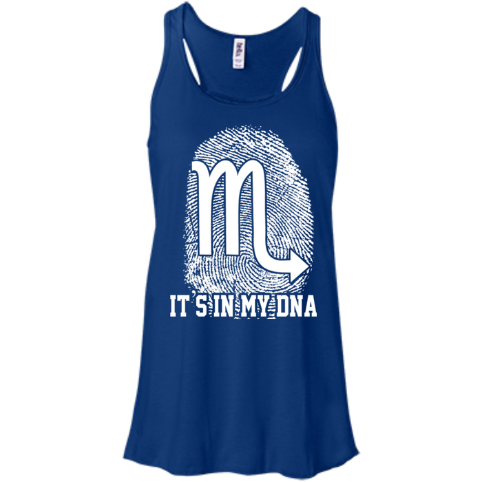CustomCat Bella+Canvas Juniors Flowy Racerback Tank / True Royal / X-Small Scorpio Tshirt & Hoodie