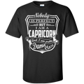 CustomCat Custom Ultra Cotton T-Shirt / Black / Small Capricorn Tshirt & Hoodie