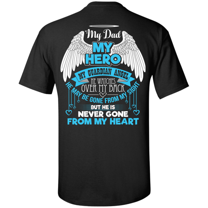 CustomCat Custom Ultra Cotton T-Shirt / Black / Small My Dad - My Hero - My Guardian Angel Tshirt