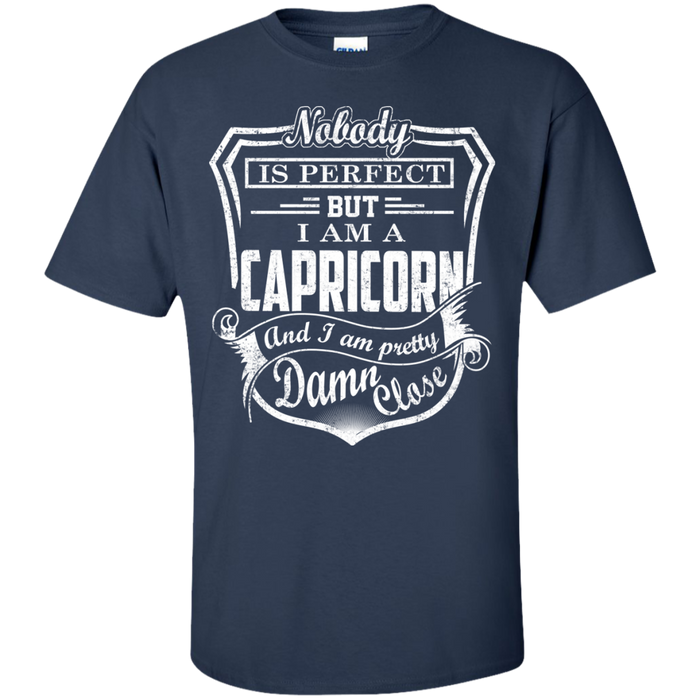 CustomCat Custom Ultra Cotton T-Shirt / Navy / Small Capricorn Tshirt & Hoodie